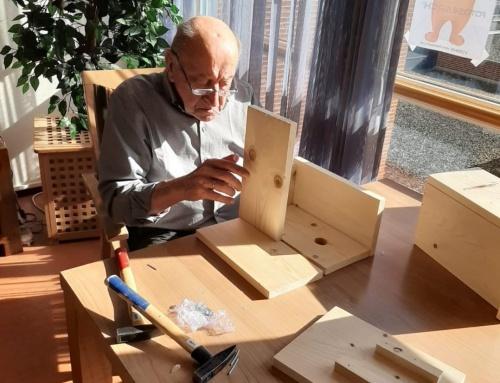 Vogelhuisjes voor verzorgingstehuizen Randmeer en Weideheem in Harderwijk